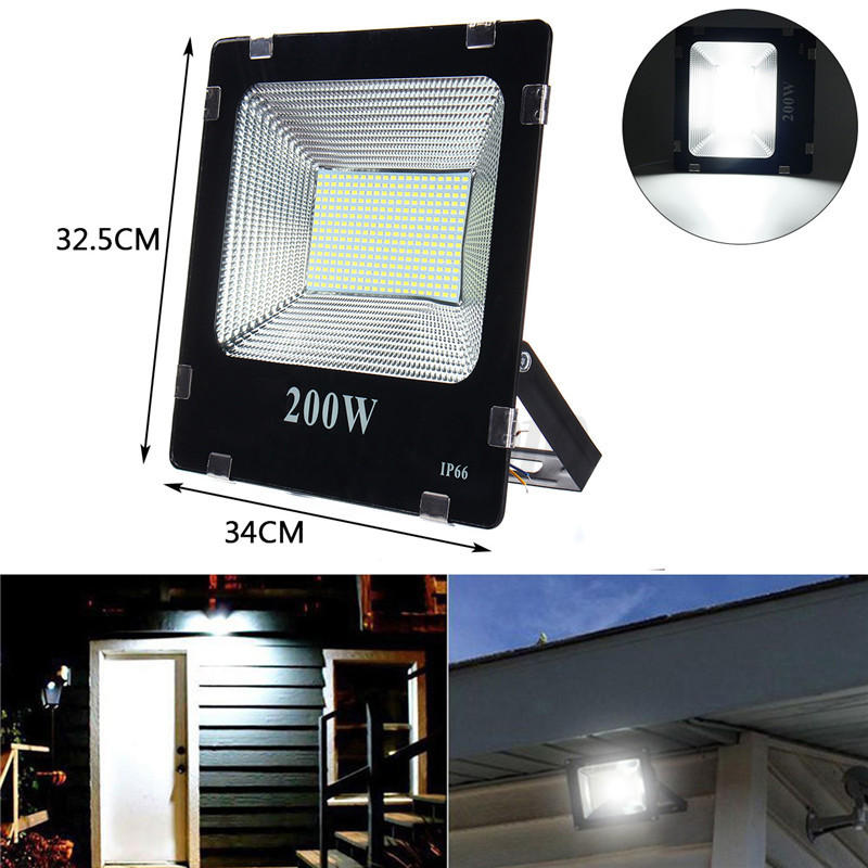 20w 30w 50w 100w 200w led flood spot light projecteur for Lampe projecteur exterieur