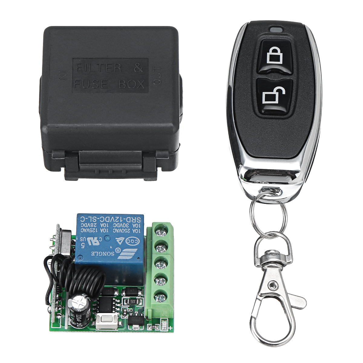 433mhz Relay 1 2 4ch Wireless Rf Remote Control Switch Transceiver Controlled Toy Car Circuit With Module