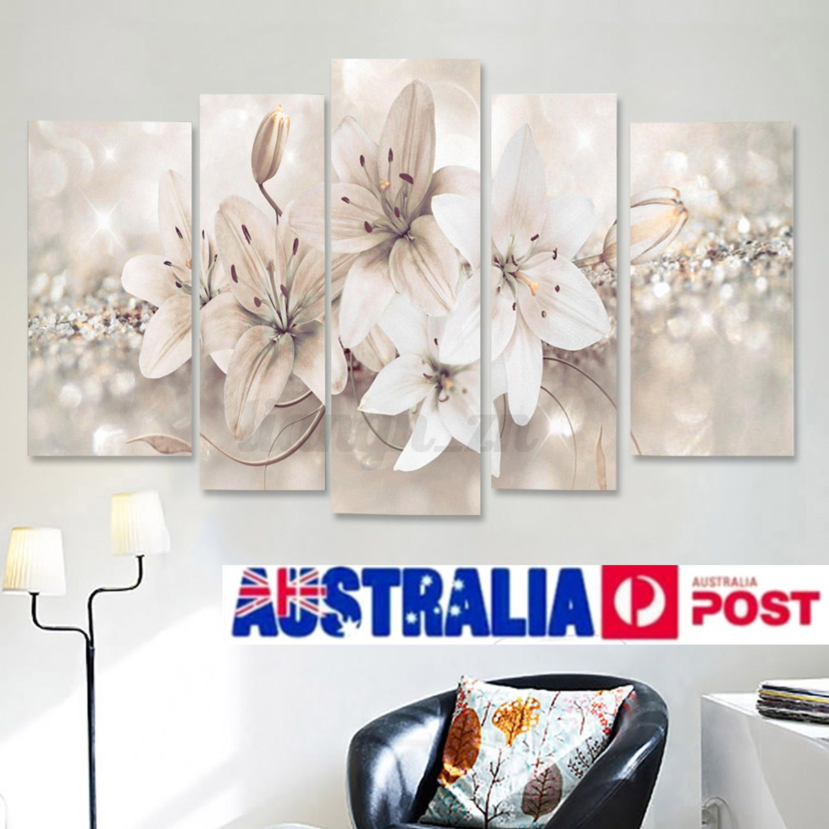 5pcs abstract flower canvas print art painting wall On modern home decor ebay