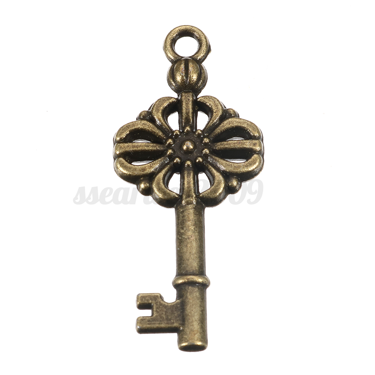 11pcs antique vintage old look bronze skeleton key fancy for Lock and key decor