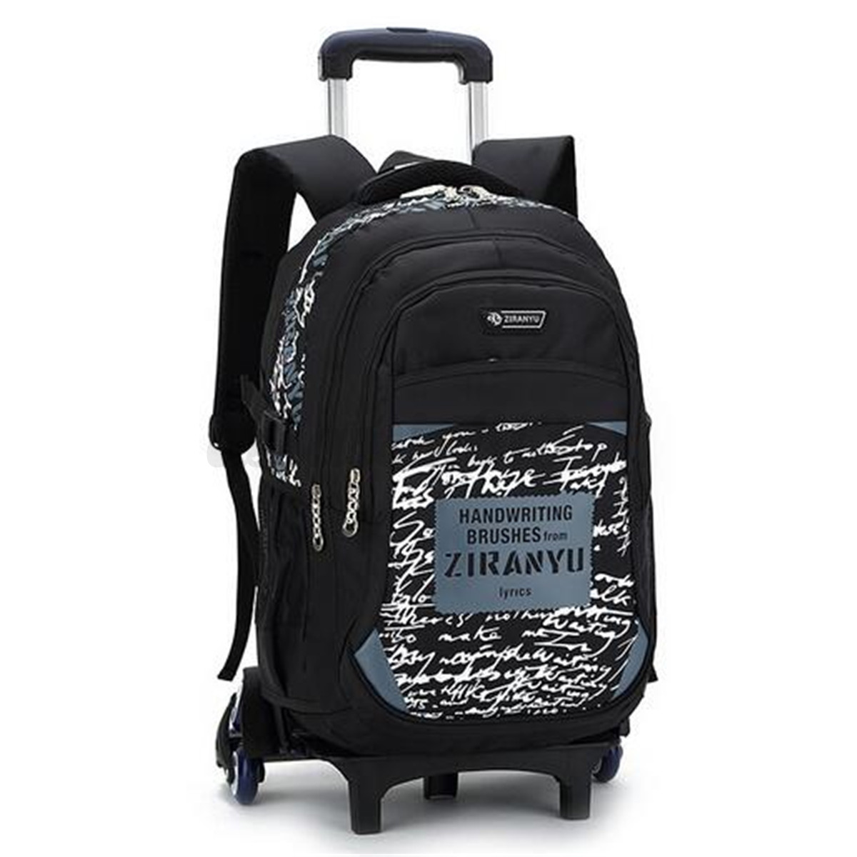 Children Trolley Backpack with 6 Wheels Removable Kids Rolling ...