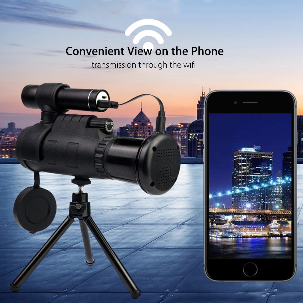 ❤ Wifi Infrared IR HD Monocular Night Vision Telescope Hunting Phone Lens