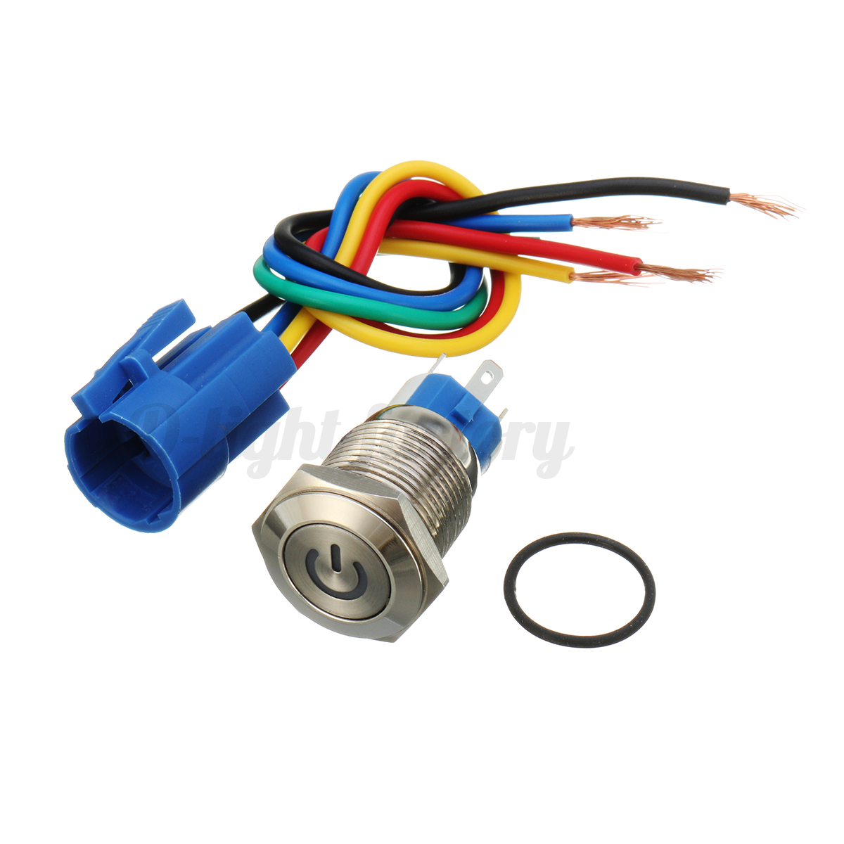 16mm 12v Car Metal Power Push Button Switch Led Latching Socket Electrical Wiring