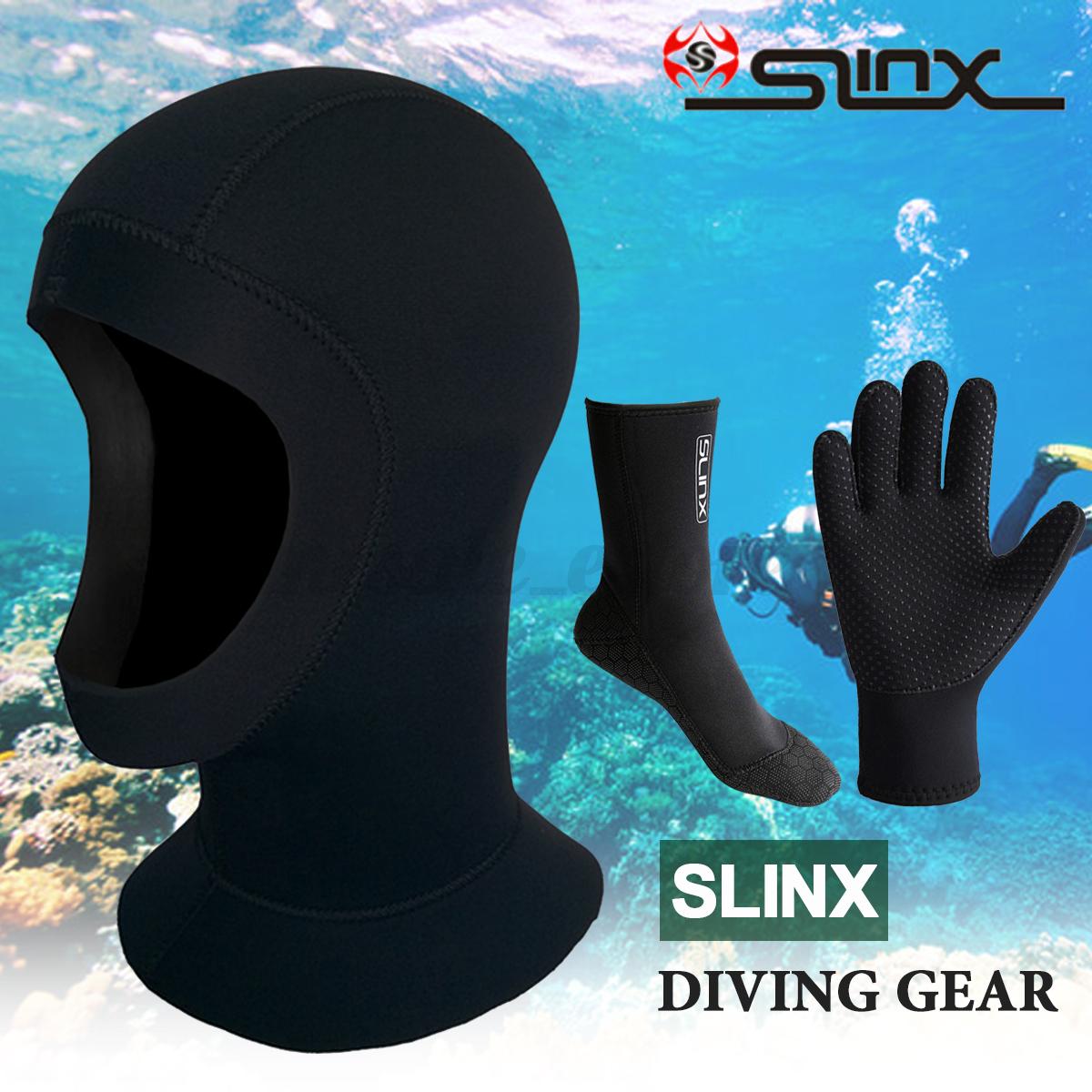 SLINX 3/5mm Diving Set Hood Glove Sock Neoprene Wetsuit Scub