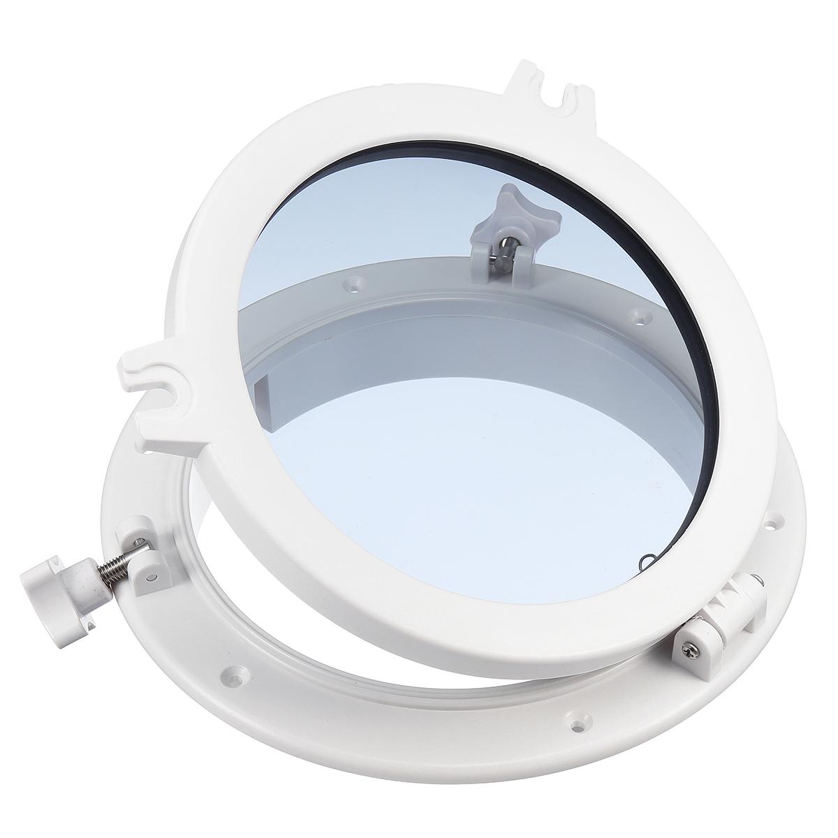 Rundfenster Fenster Weiß Bullauge 26cm 4mm Gehärtetes Glas Sehr hochwertig