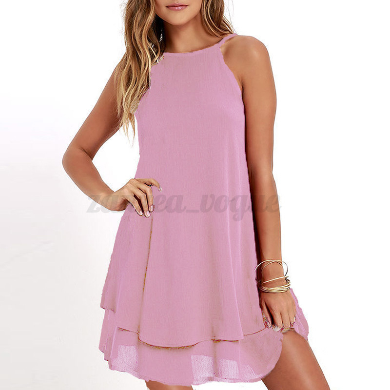ZANZEA-Women-Sleeveless-Backless-Halter-Neck-A-Line-Mini-Short-Dress-Tops-Blouse