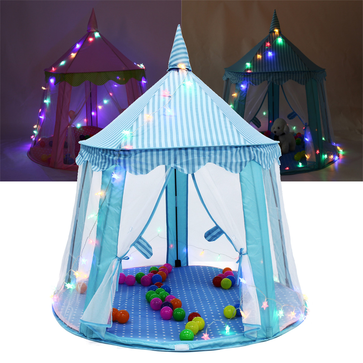 Star LED String Lights Play House Girls Large Indoor/Outdoor