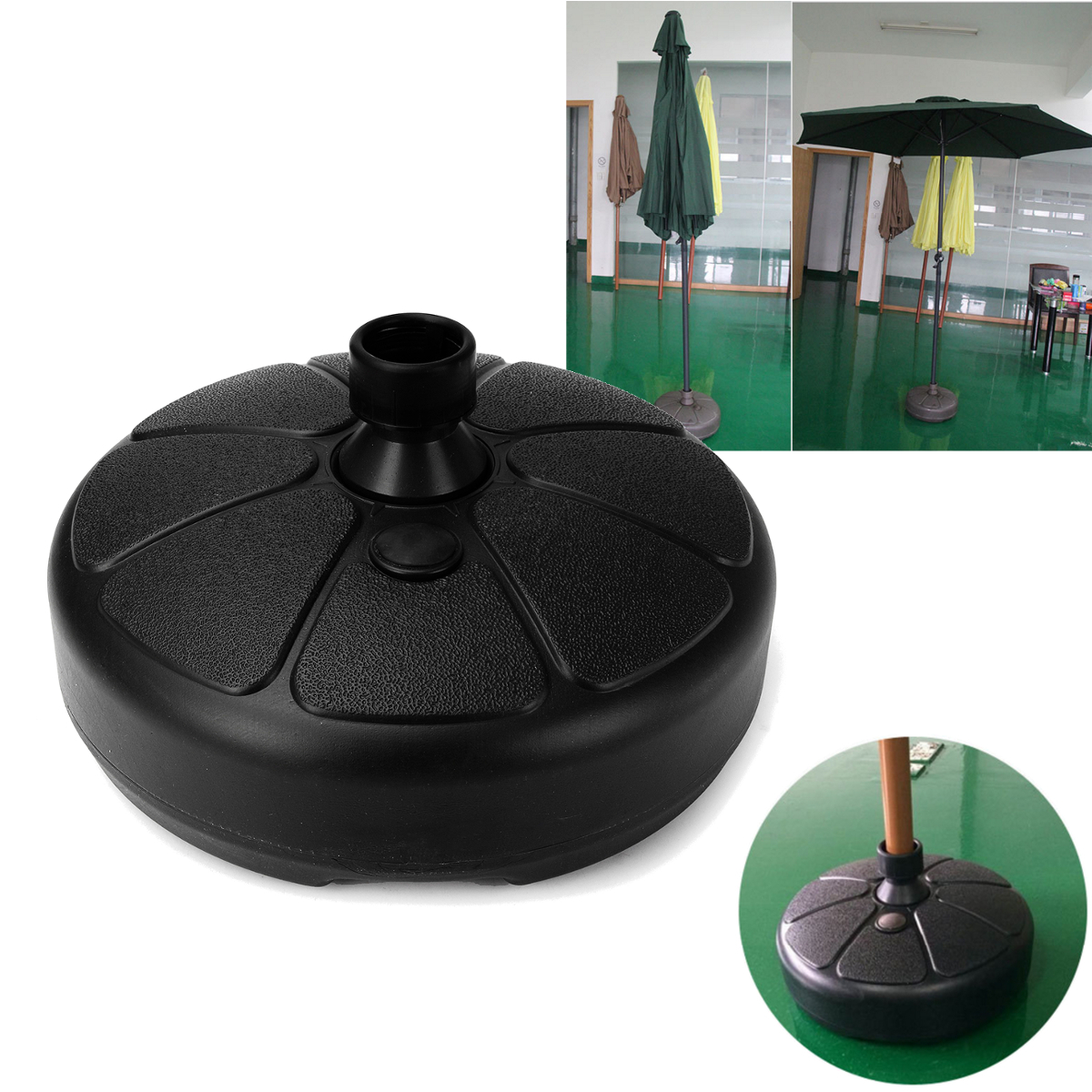 Umbrella Stand For Garden: Parasol Furnitur Outdoor Round Umbrella Base Stand Heavy