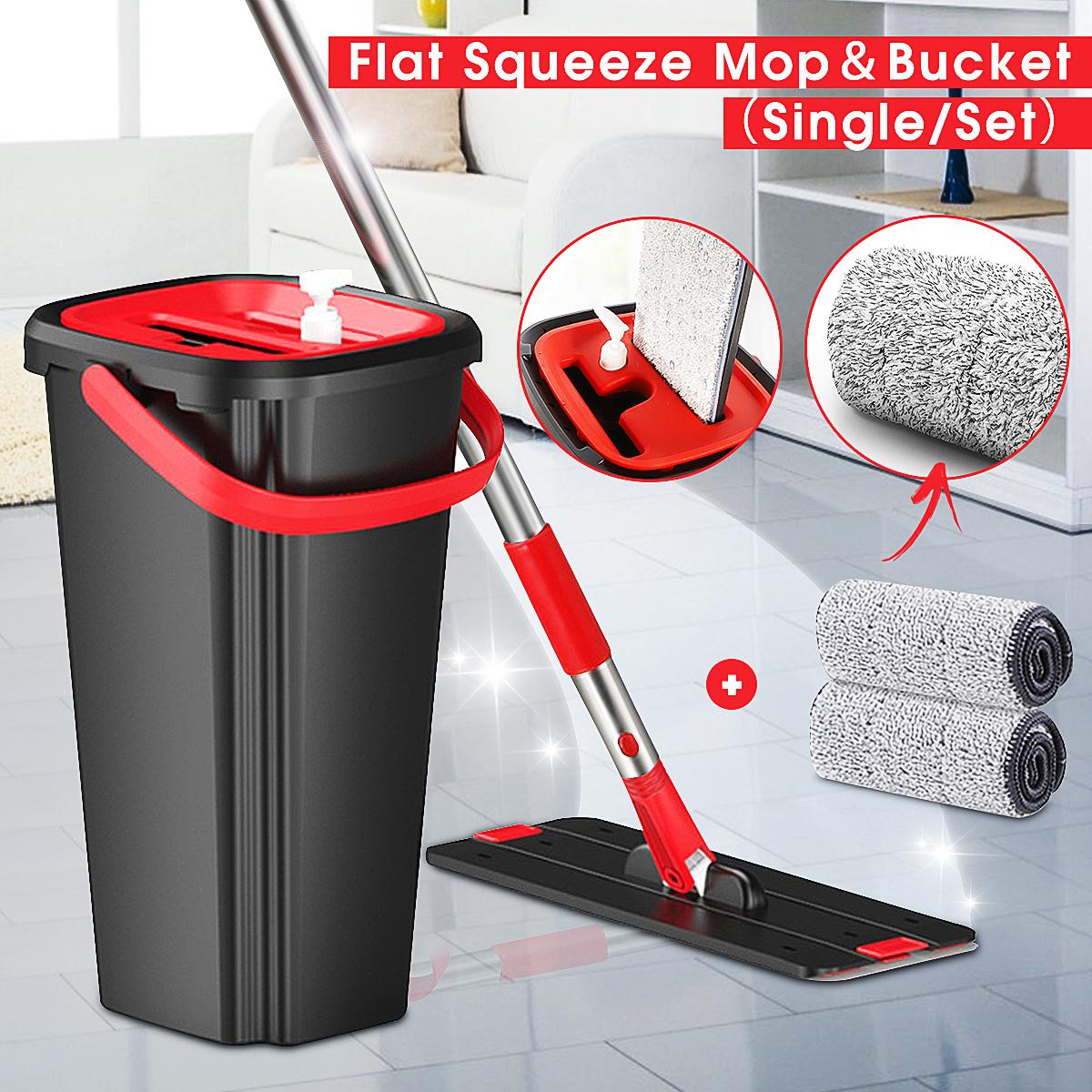 Power Mop PROFI mit Eimer Wischsystem Wischmop Pedal Bodenwischer Wisch Set Mopp