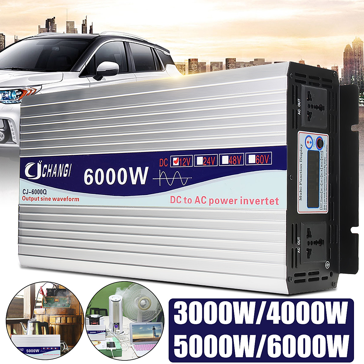 5000w 10000w Power Inverter Pure Sine Wave 12v 24v 220v Converter Design Modified Code For