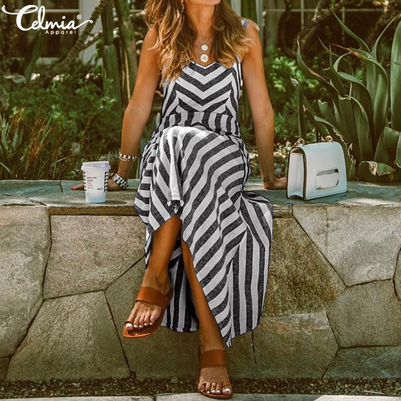 UK-Womens-Ladies-Summer-Beach-Midi-Dress-Holiday-Strappy-Swing-Sun-Dresses-8-26 thumbnail 13