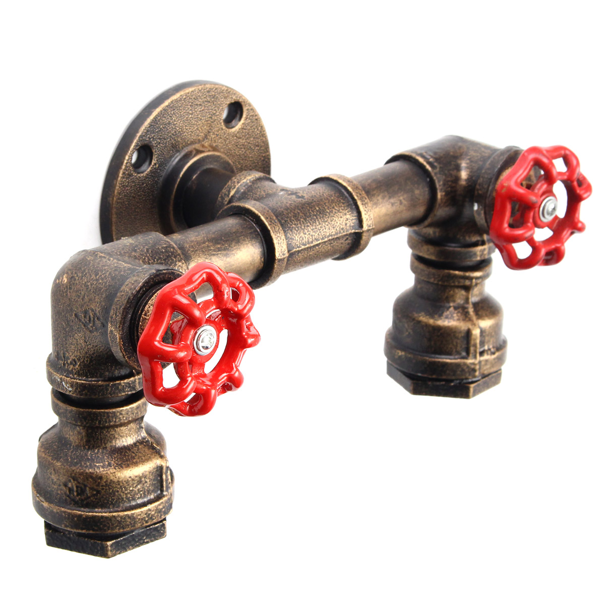 Iwhd Water Pipe Retro Vintage Ceiling Light Fixtures: Retro Industrial Steampunk Iron Water Pipe Shape Wall Lamp