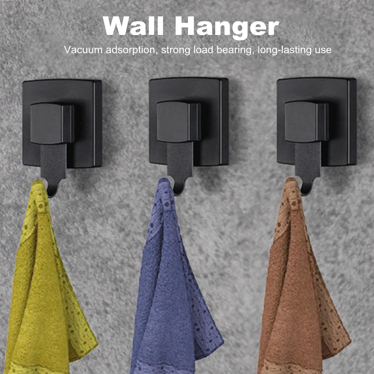 3 Stk Vakuum Saughaken Badezimmer Wand Tür Edelstahl Handtuchhalter