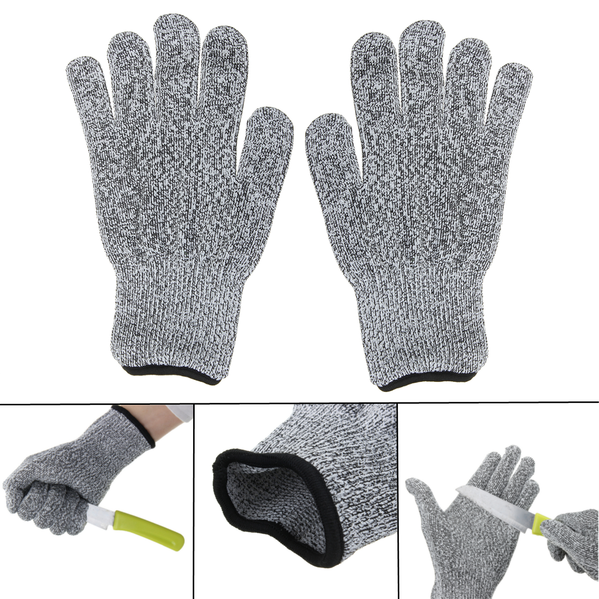 Anti Cutting Cut Resistant Gloves Food Grade Kitchen Butcher Protection Level 5 Ebay