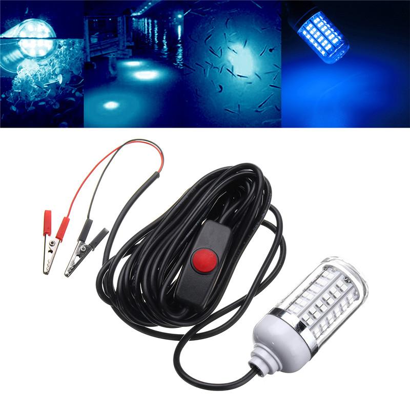 12v 15w underwater led fishing lamp night boat light for Fishing light attractor