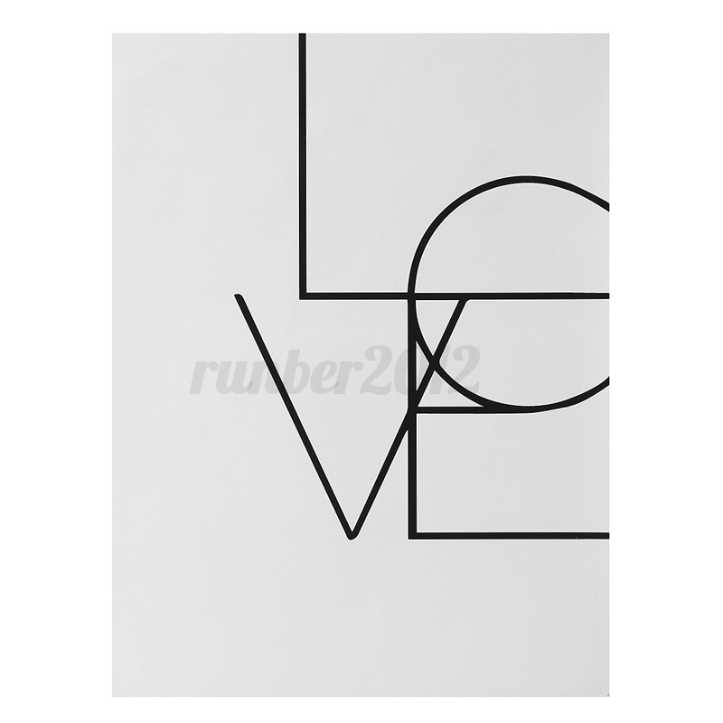 Letters Canvas No Framed Art Printed Painting Wall