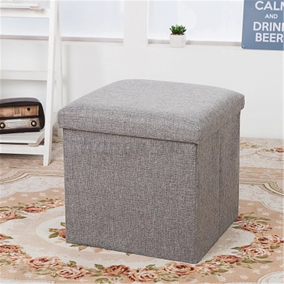 tabouret pouf banc coffre de rangement si ge banquette meubles repose pied ebay. Black Bedroom Furniture Sets. Home Design Ideas