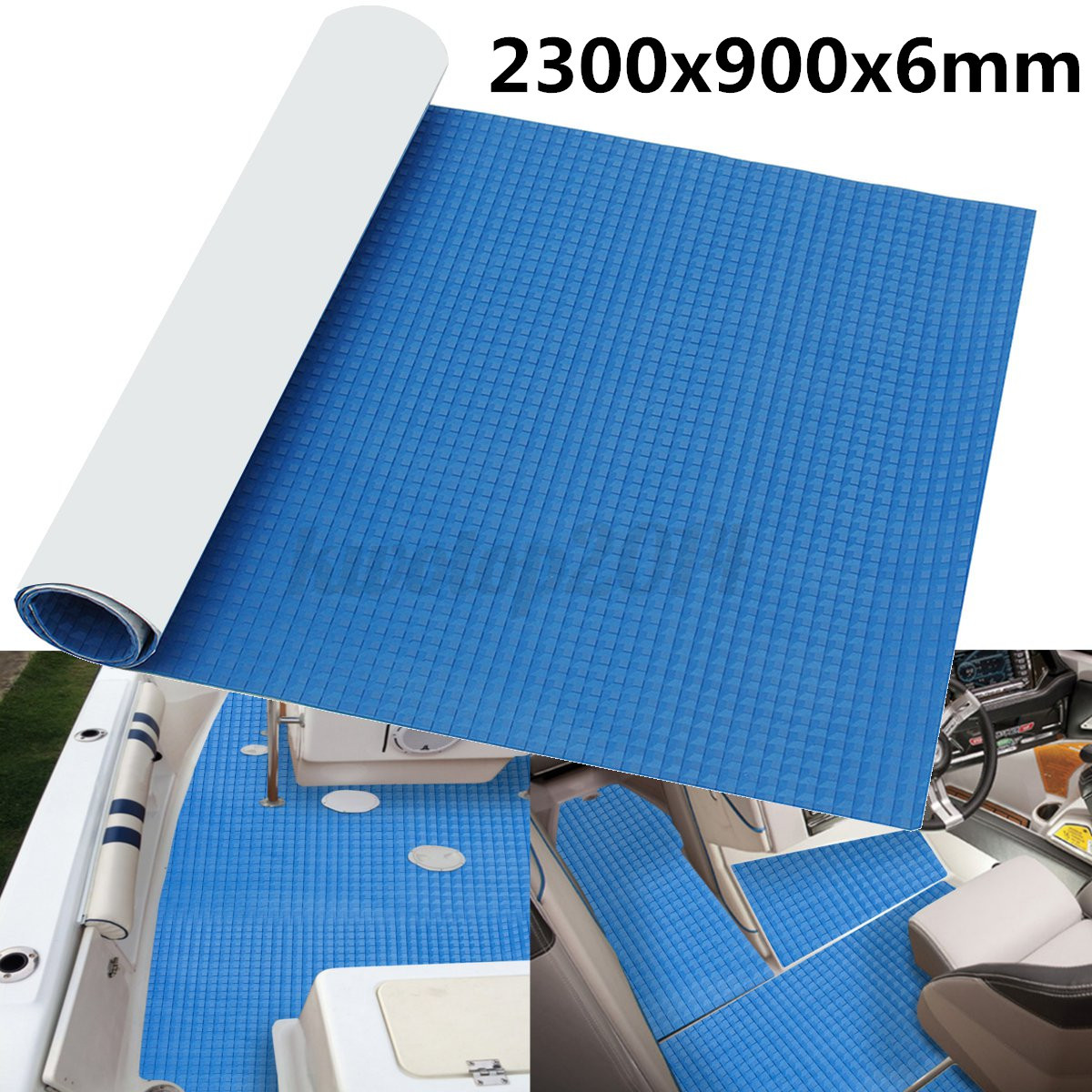 EVA Foam Boat Foam Teak Decking Pad Kayak Flooring Sheet 5mm Marine Mat Blue