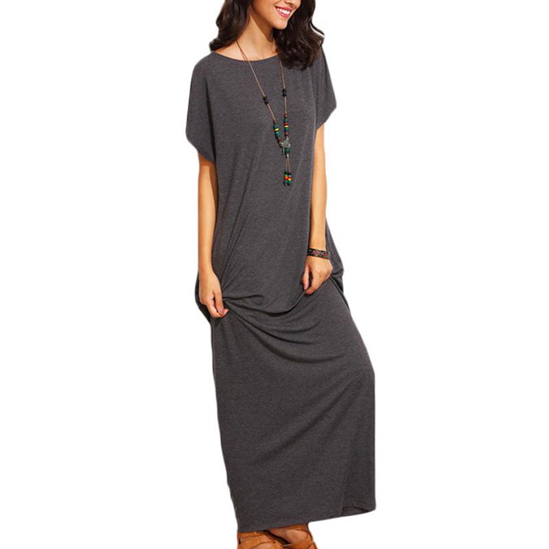 Women-Summer-Short-Sleeve-Beach-Party-Evening-Maxi-Kaftan-Plus-Size-Long-Dress