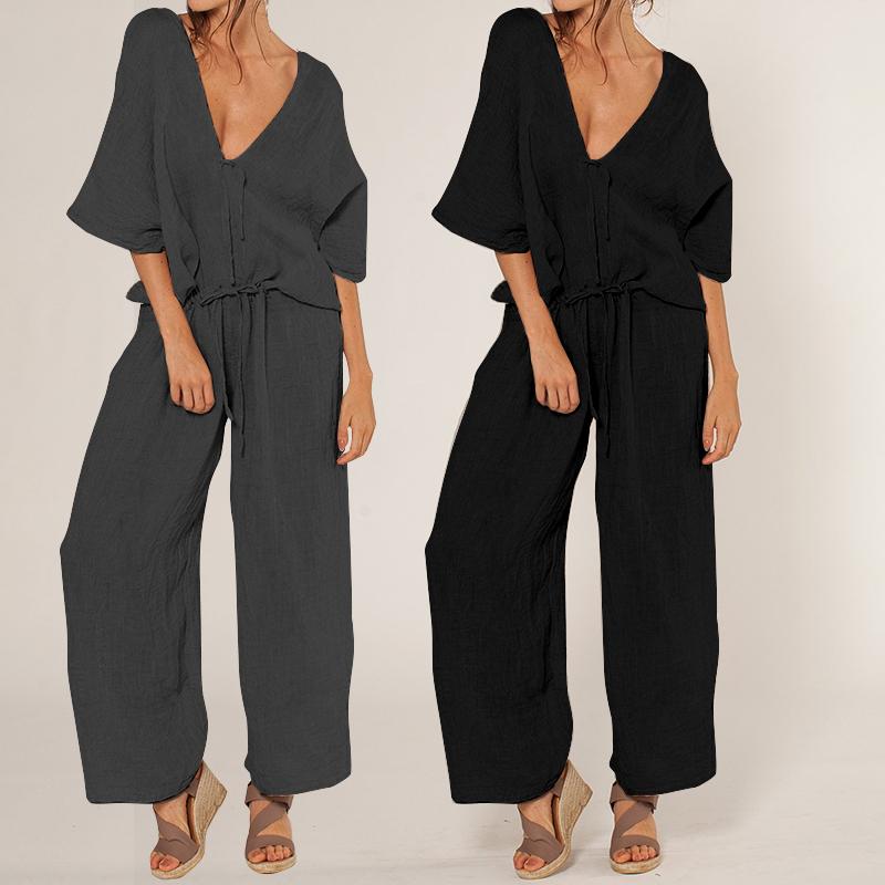 Details about Womens Rompers Plus Size Jumpsuit Flower Playsuit Casual Short Sleeve Dresses