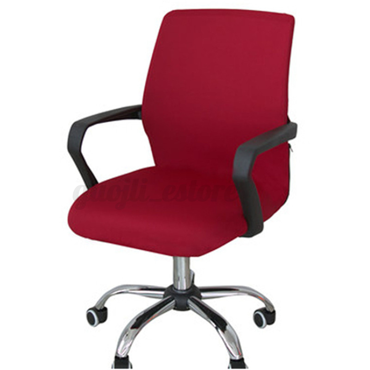 swivel computer chair cover stretch office spandex. Black Bedroom Furniture Sets. Home Design Ideas
