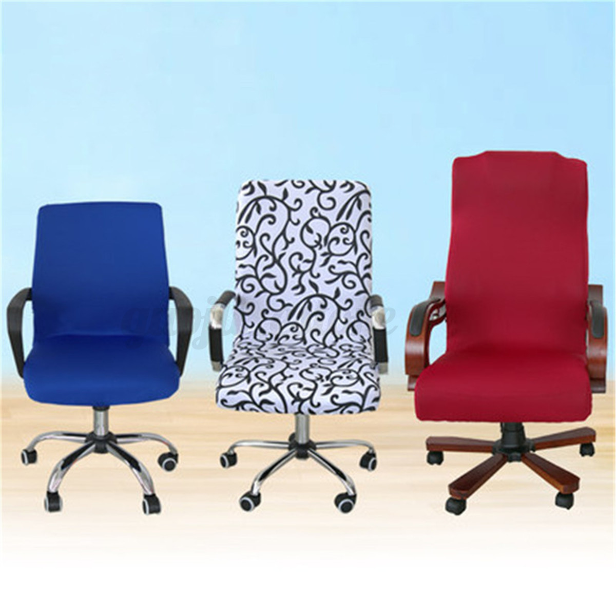 Swivel Computer Chair Cover Stretch Office Spandex