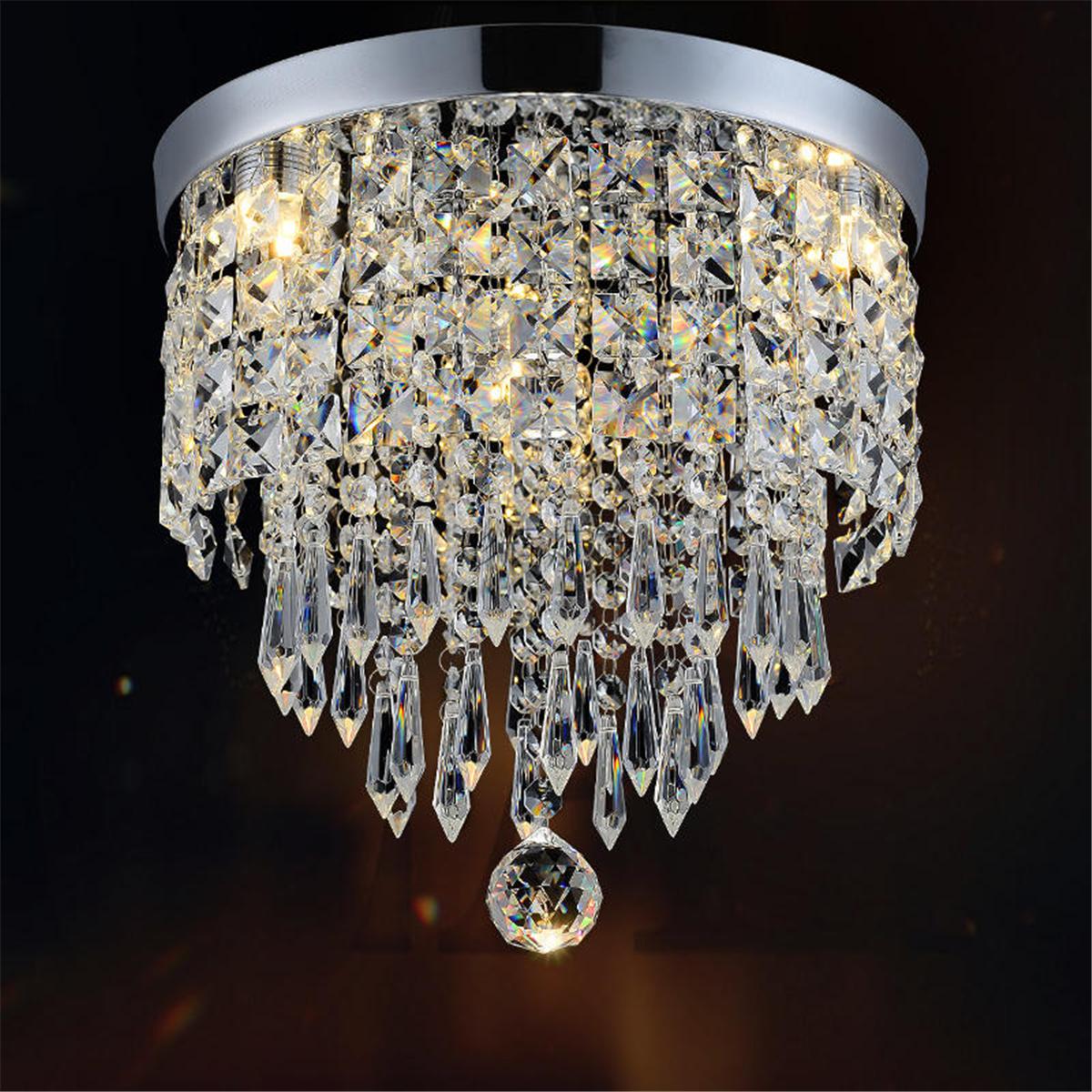 Modern LED Crystal Ceiling Light Pendant Lamp Fixture ...