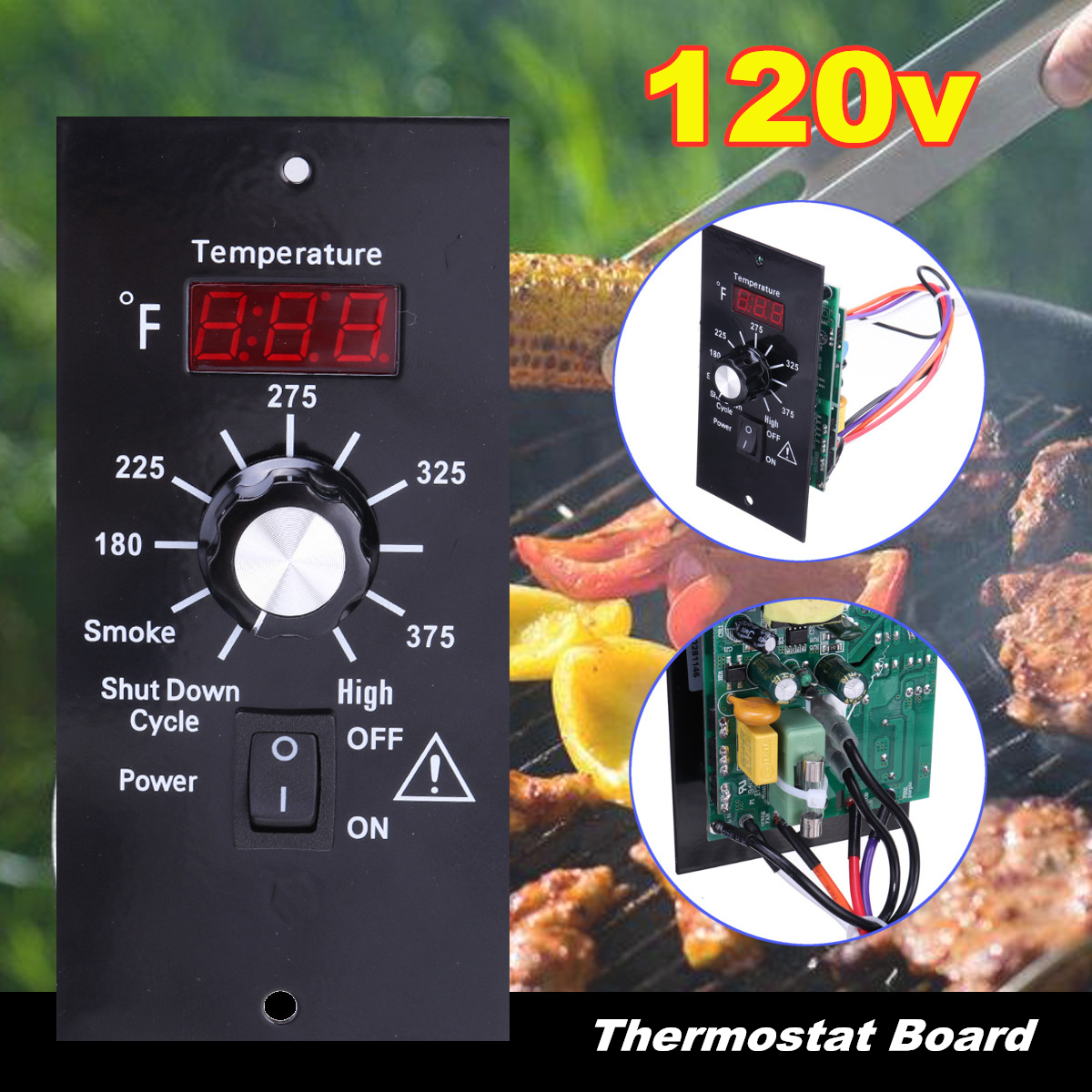 Details about Digital Thermostat Controller Board Replacement For Traeger  Wood Pellet Grill US