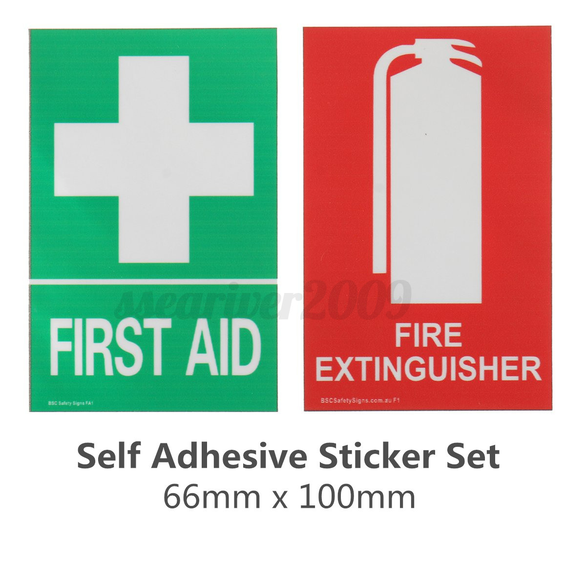 Famous Fire Extinguisher / First Aid Kit PVC Vinyl Sticker Sign Decal  MW52