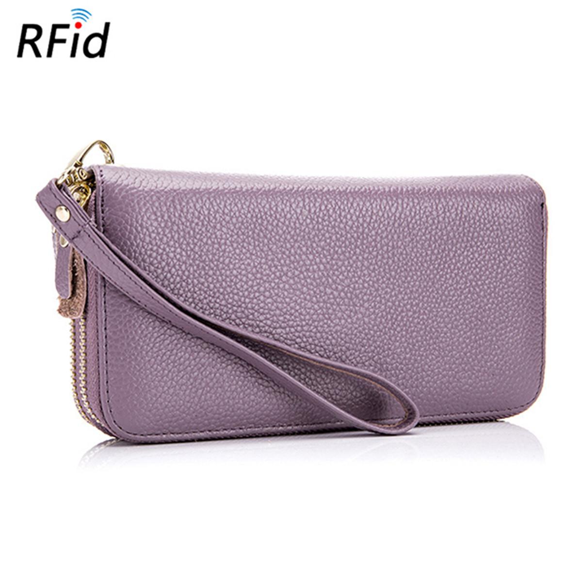 Men-Women-RFID-Genuine-Leather-Long-Wallet-Clutch-Phone-Bag-Card-Holder-Purse