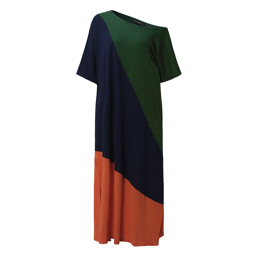 ZANZEA-8-24-Women-Casual-Color-Block-Sundress-Kaftan-Plus-Size-Long-Maxi-Dress