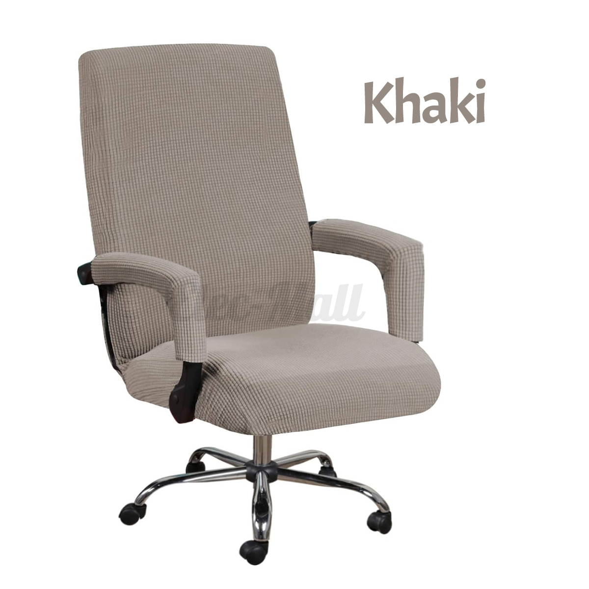 Swivel-Computer-Chair-Cover-Stretch-2X-Armrest-Covers-Armchair-Slipcover-Seat miniature 19