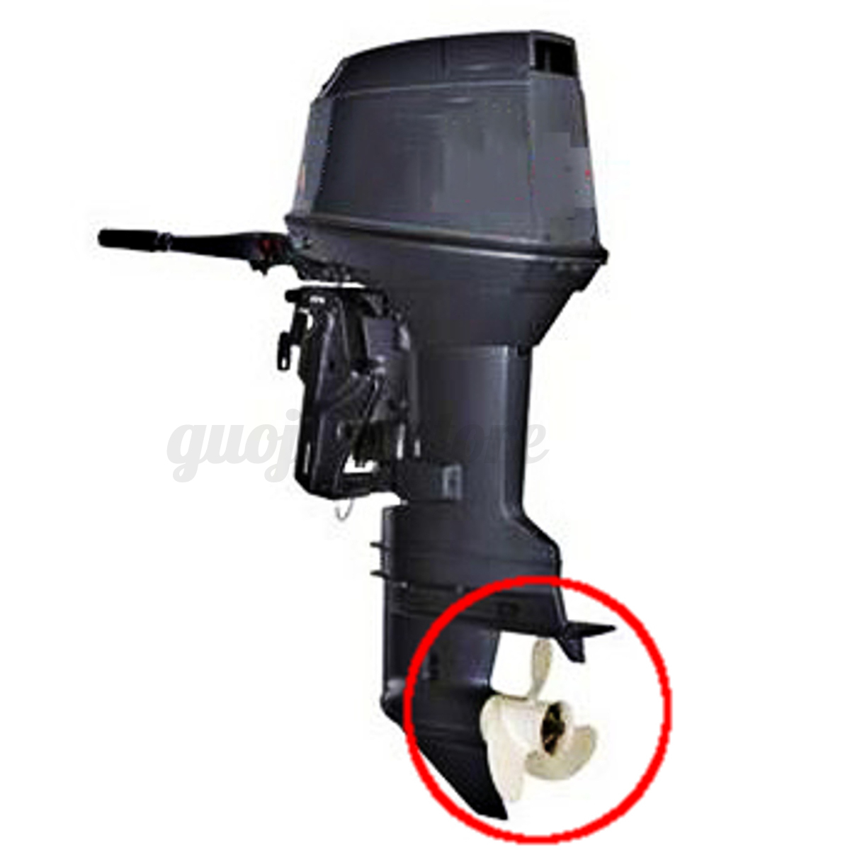 Au boat propeller marine engine outboard motor aluminum for Aftermarket trolling motor props