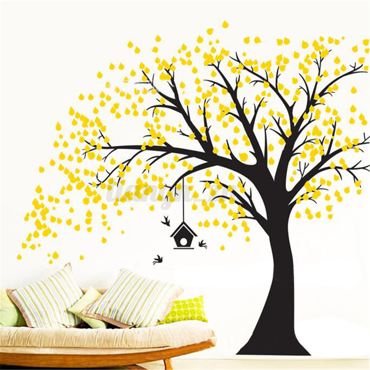Large Family Tree DIY Decal Paper Art Wall Sticker Home Nursery Room ...