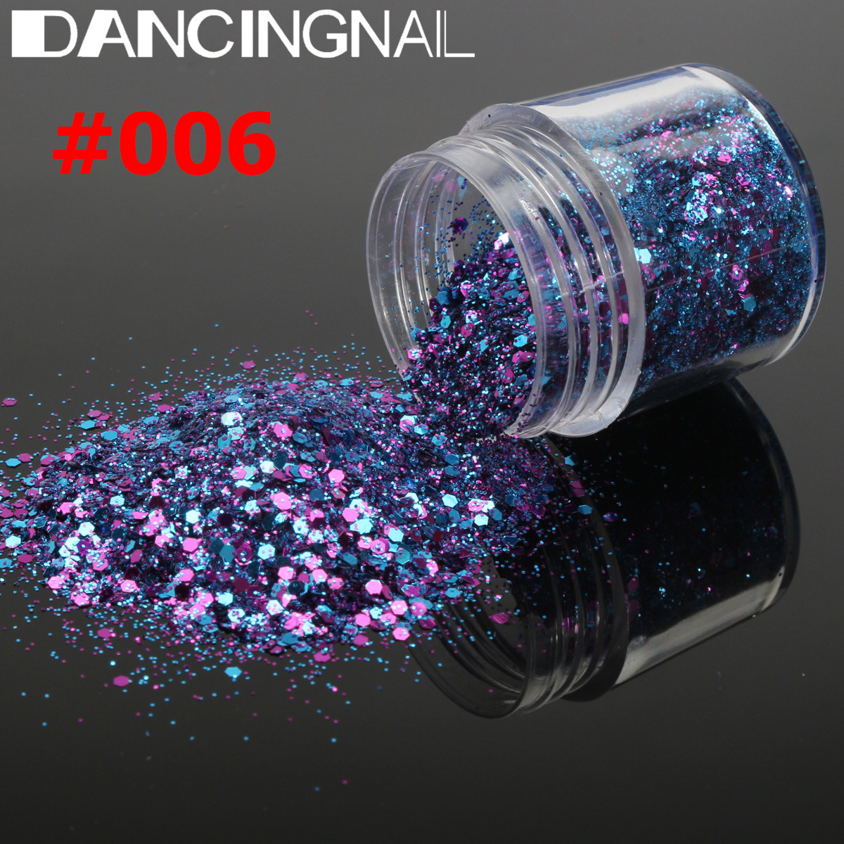 5 Pot/Set Flake Chunky Nail Art Glitter Powder Dust Acrylic UV Gel ...