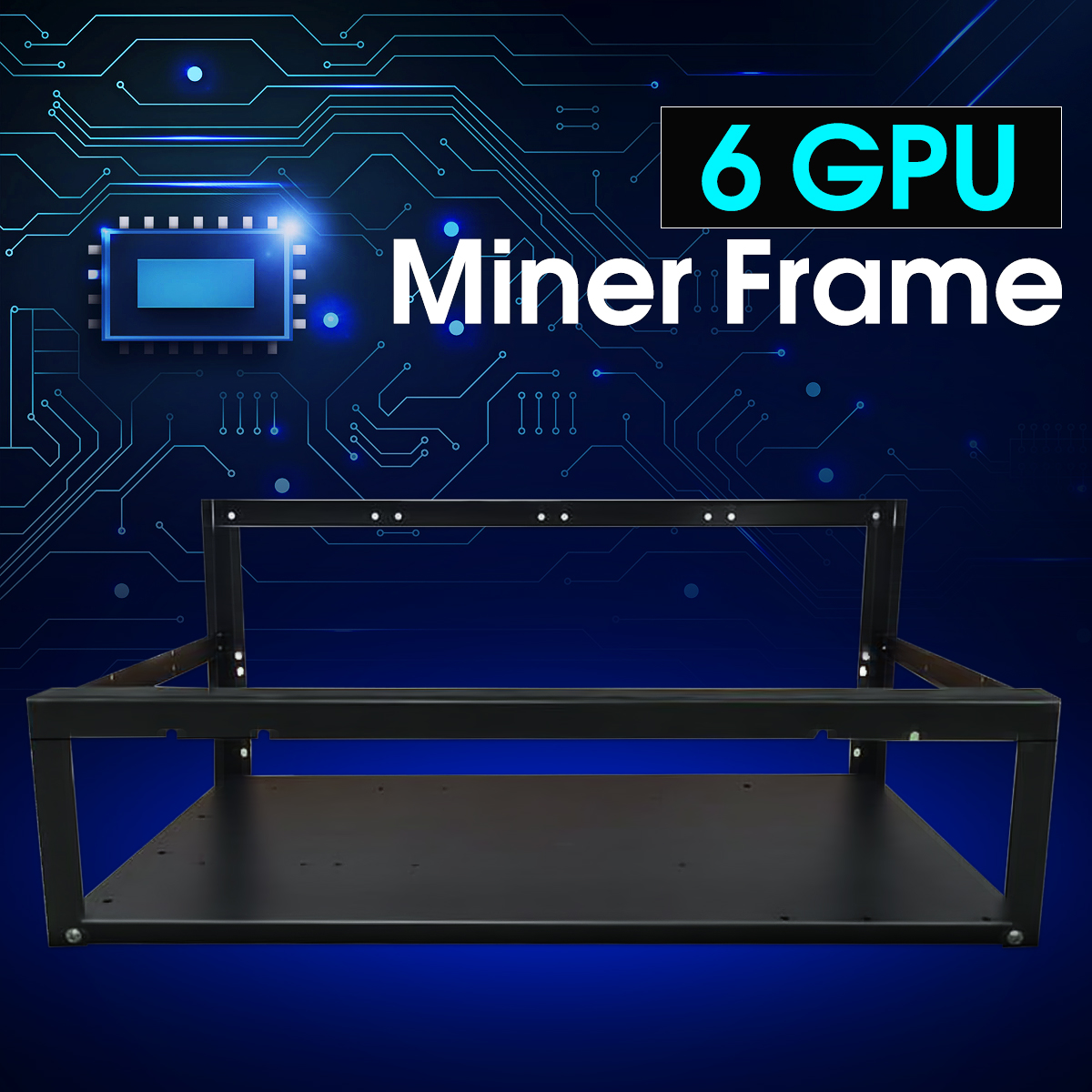 Coin Open Air Mining Miner Rig Frame Case 6gpu BTC ETH Ethereum Thickened SECCl