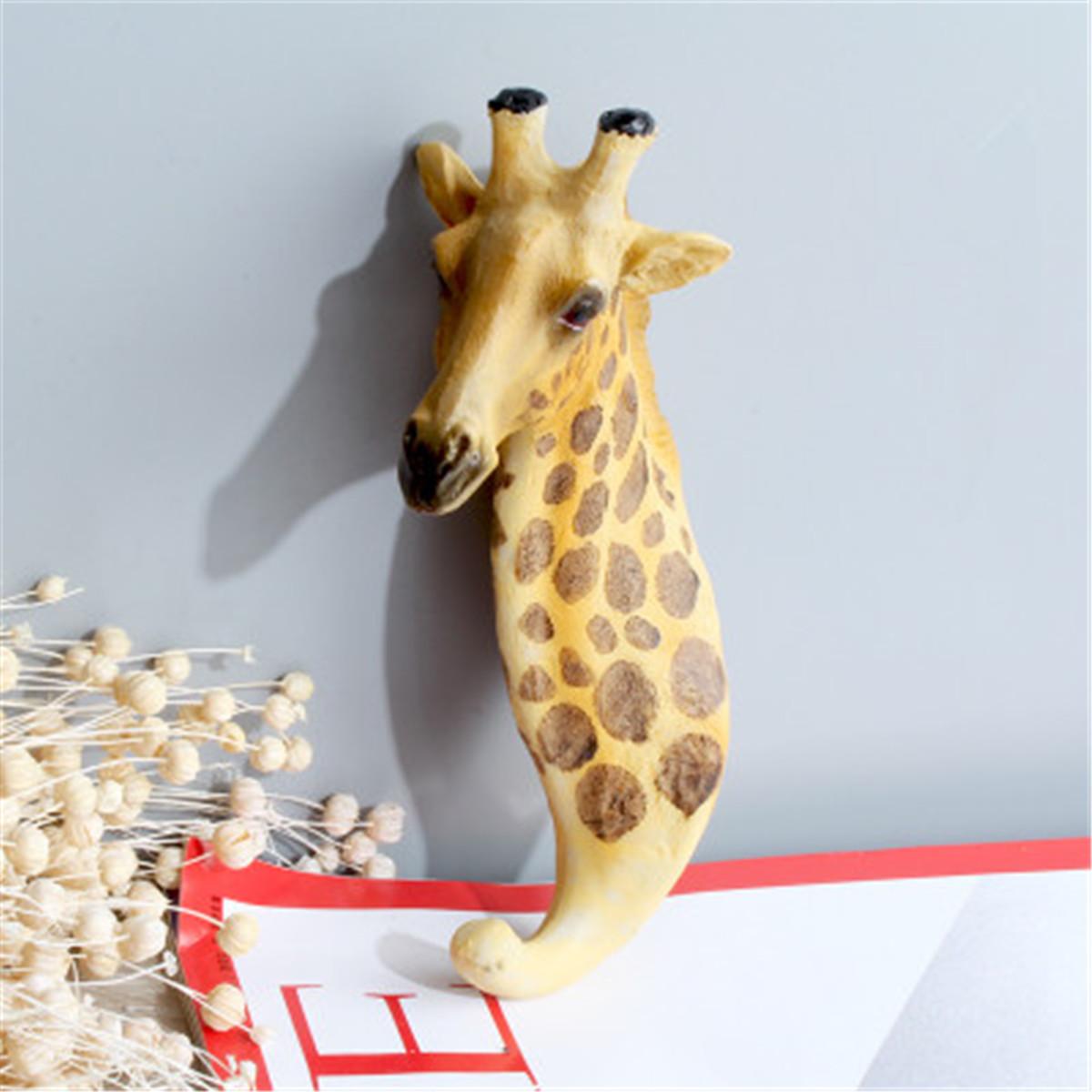 Creative Animal Deer Head Wall Hook Hanging Rack Hat Bag Home House ...