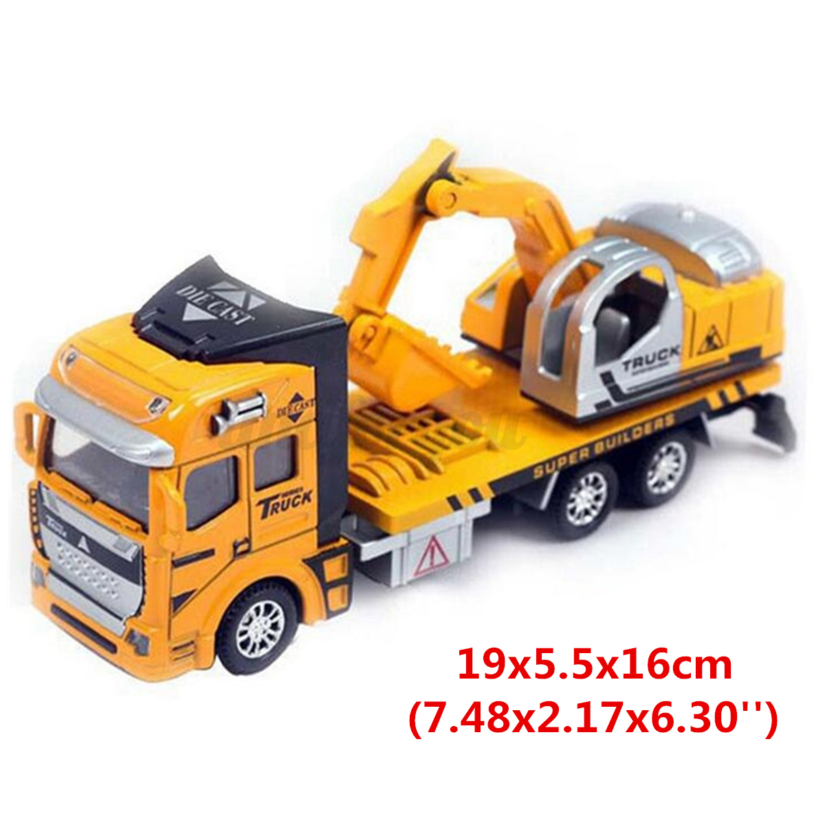 New 1 48 Excavator Vehicles Diecast Model Pull Back Alloy Car Toy  # Modele Banc En Bois
