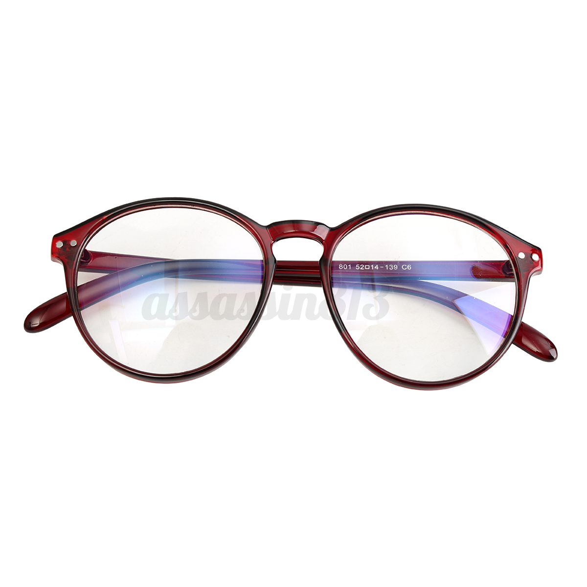 Chic Round Eyeglass Frame Vintage Glasses Retro Spectacles Clear ...