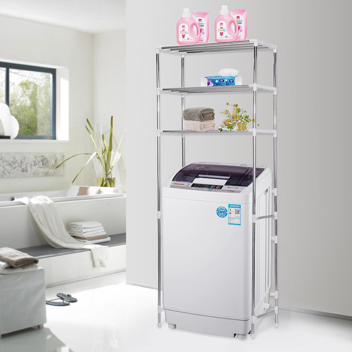 details about storage shelf over toilet/bathroom/laundry/washing machine  rack unit organizer over Washing Machine Storage