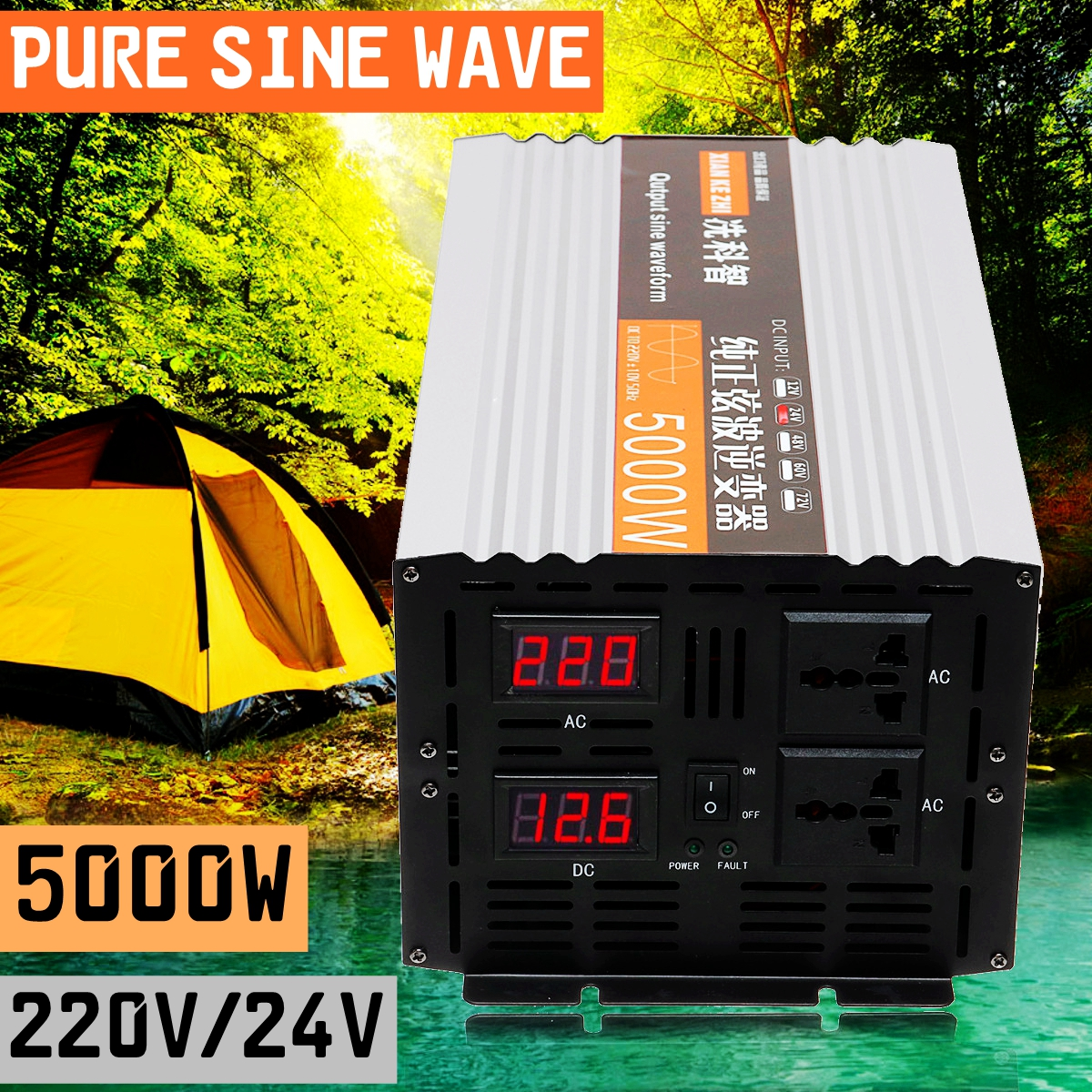 2500W-5000W-Peak-Pure-Sine-Wave-Power-Inverter-12V-24V-48V-220V-Converter