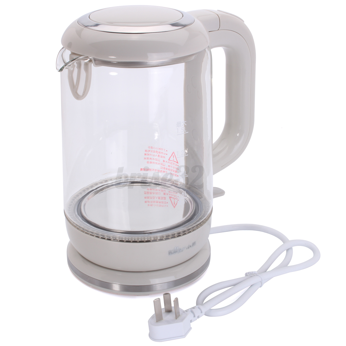 1.5L / 1.7L Home Tea Hot Water Electric Kettle Boiler Stainless ...