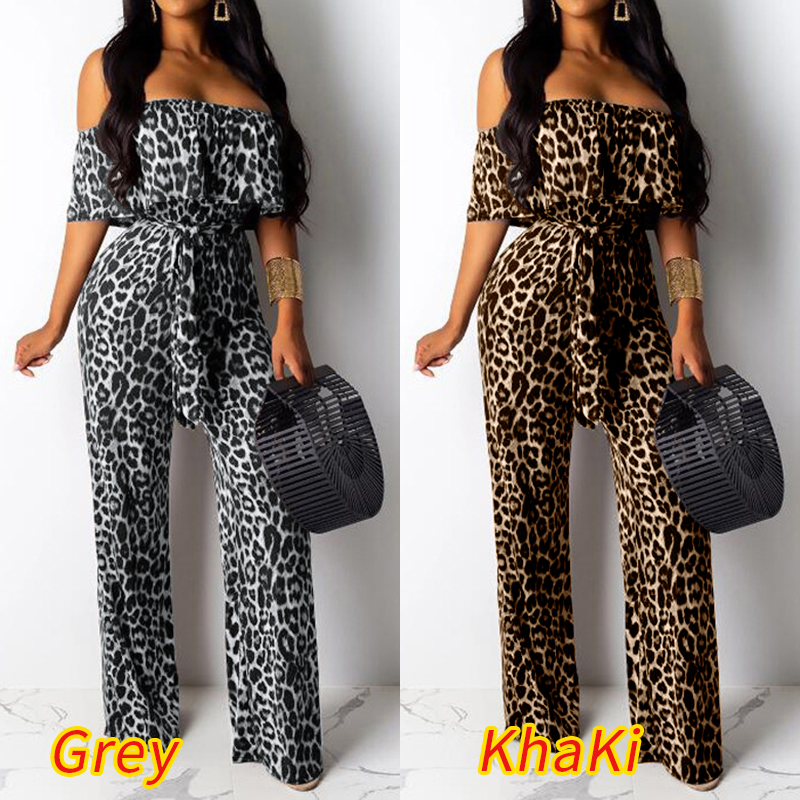 Womens Military Camo V Neck Cross Over Playsuit Ladies Palazzo Jumpsuit Pant