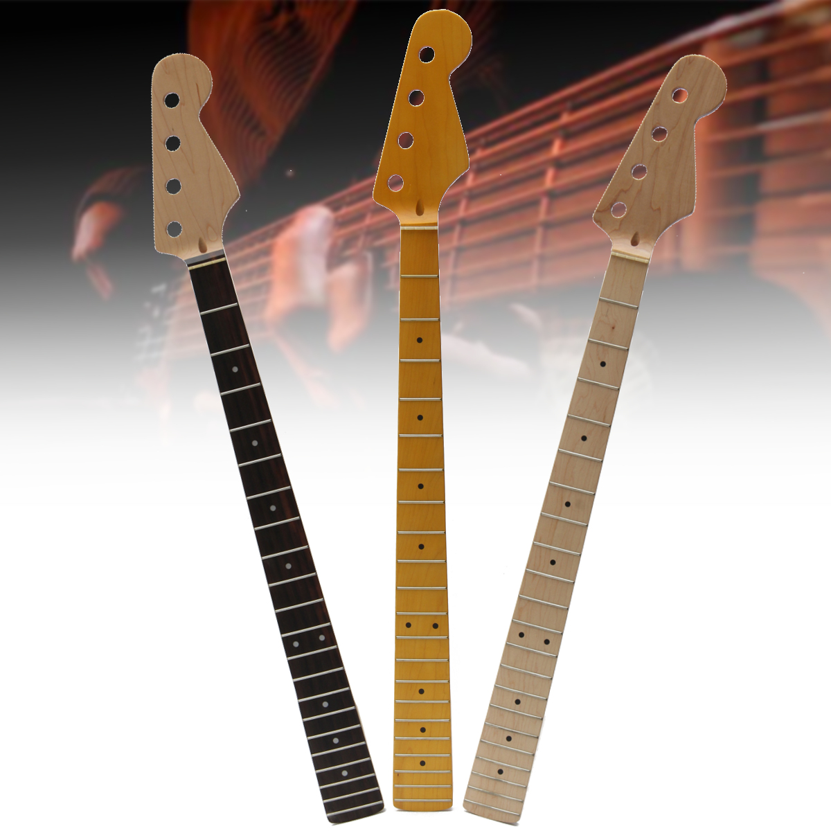 electric guitar neck replacement guitar parts flame rose wood fretboard 21 fret ebay. Black Bedroom Furniture Sets. Home Design Ideas