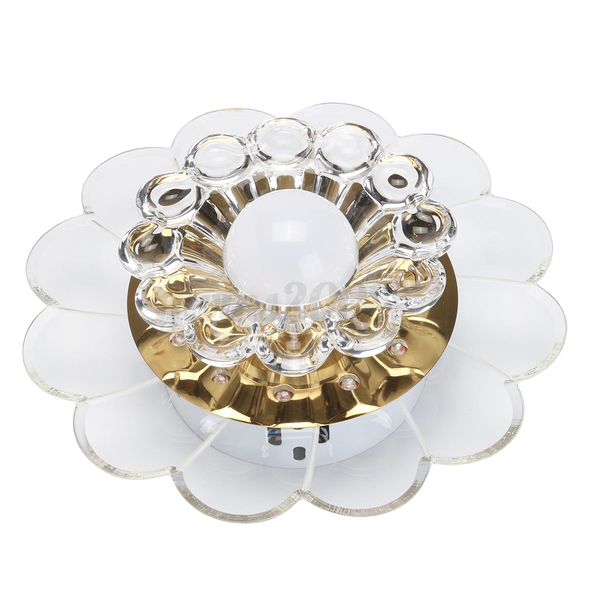 5w led kristall deckenleuchte deckenlampe modern for Deckenleuchte deckenlampe