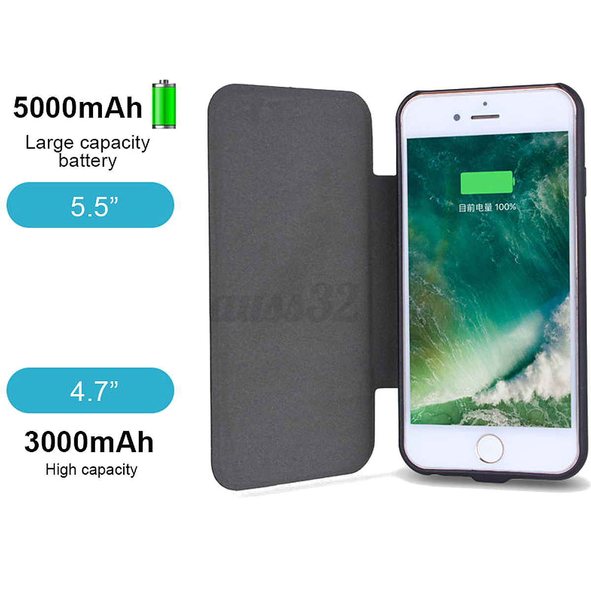 outlet store 01d78 0c24c Details about External Solar Power Battery Charger Case Cover Power Bank  For Phone 6 7 7 1