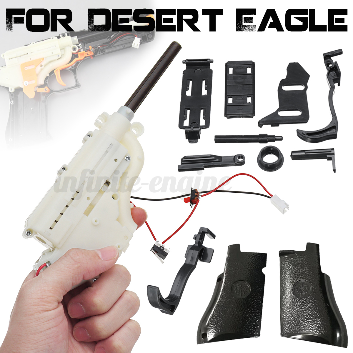 Gear-box-Trigger-Grip-Panels-Parts-For-RX617-RenXiang-Desert-Eagle-Gel-Ball-Toy