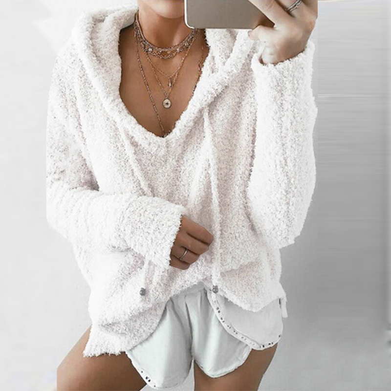ZANZEA-Women-Knitted-Pullover-Coat-Jacket-Outerwear-Fluffy-Fleece-Jumper-Sweater