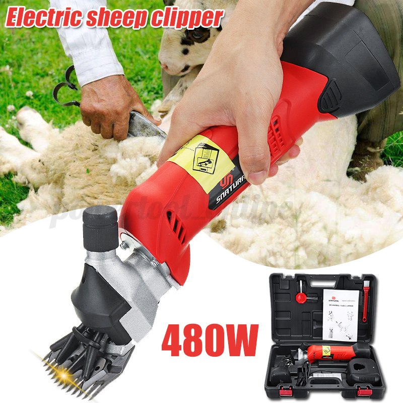 480W Cordless Electric Sheep Shearing Clipper Sheep Goat Rechargeable Battery