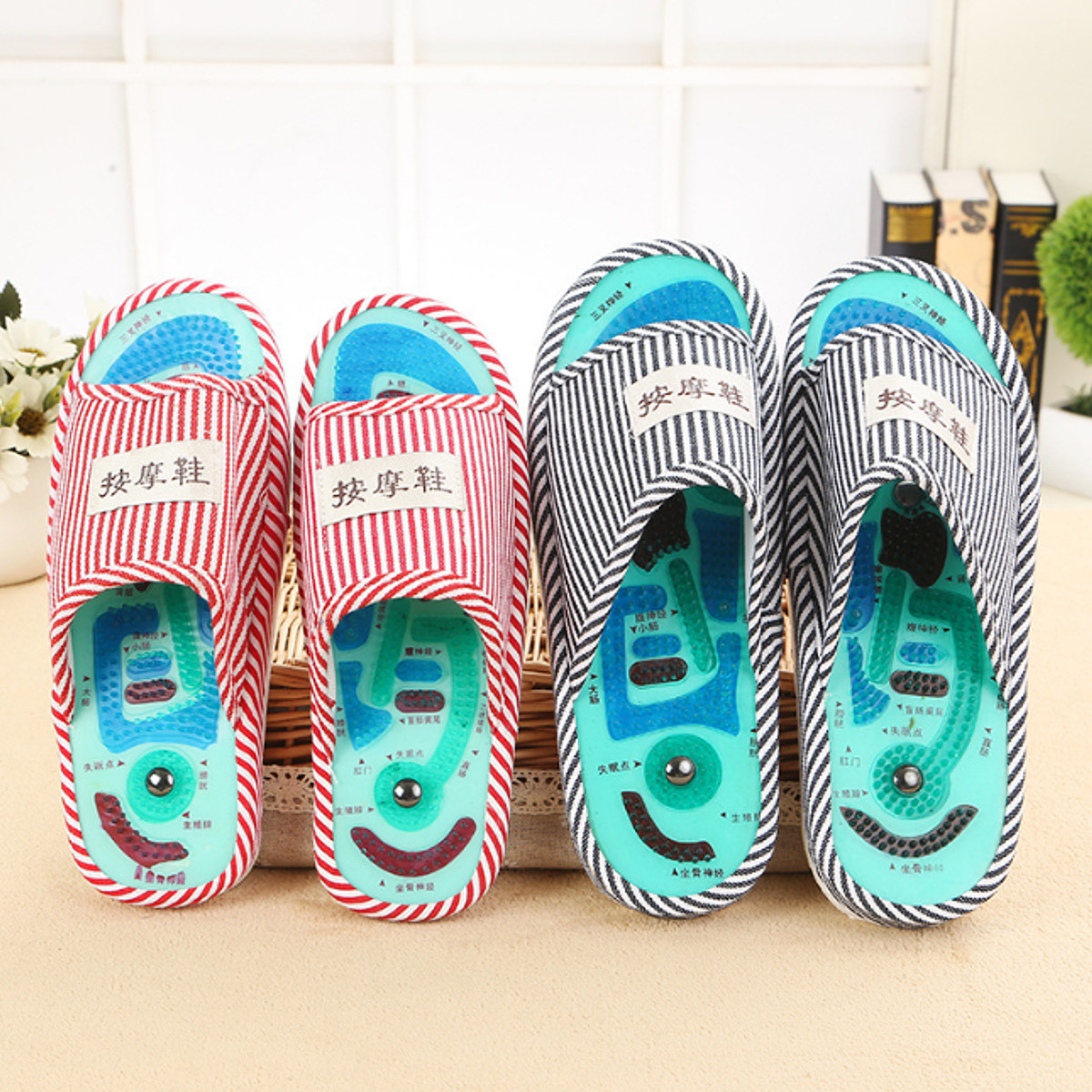 83d32009e Slippers Massage Foot Spa Health Acupuncture Feet Care Sandal ...
